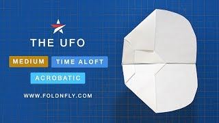 Fold 'N Fly ✈ The UFO Paper Airplane