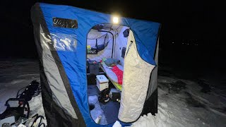 Camping on the Larġest Frozen Lake in North America
