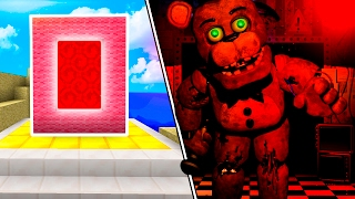 COMO HACER un PORTAL al MUNDO de FIVE NIGHTS AT FREDDY S Fnaf en Minecraft