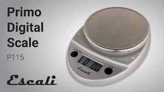 Escali Primo Kitchen Food Scale video