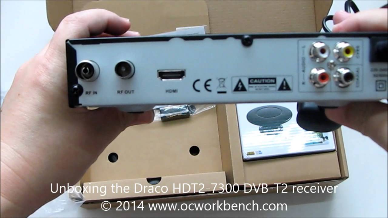 Unboxing The Draco Hdt2 7300 Dvb T2 Receiver Youtube
