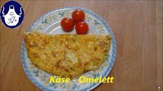 Käse - Omelett ,- aussen knusprig , innen saftig