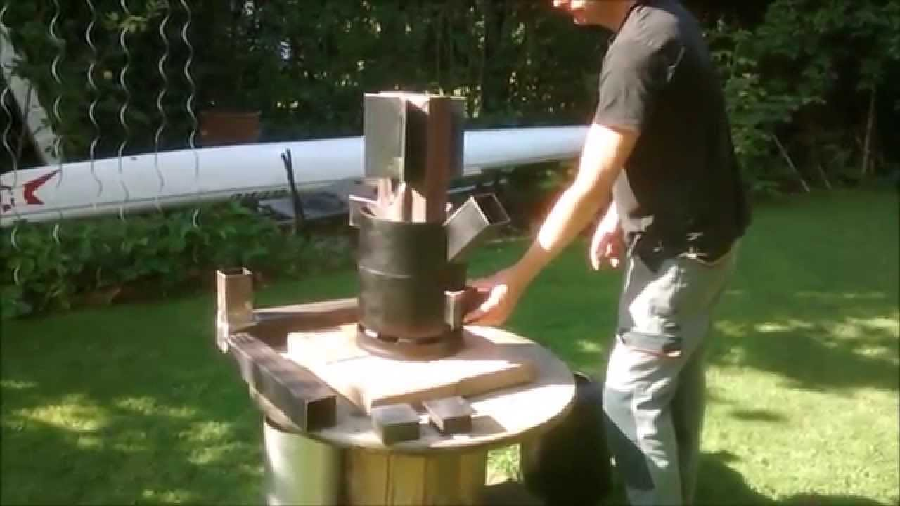 Rocket stove heater dragon youtube - Faire un sauna maison ...