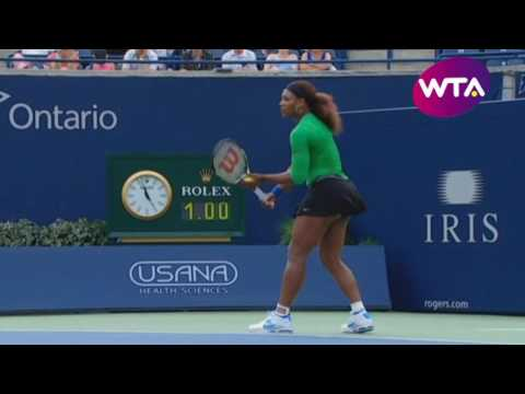 Serena Williams vs Julia Goerges - 2011 Rogers Cup R2 Highlights