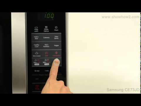 How to preheat samsung microwave oven