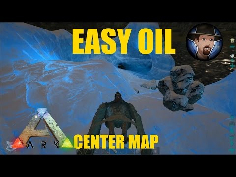 WHERE TO FIND EASY OIL on The Center Map- Ark Survival Evolved