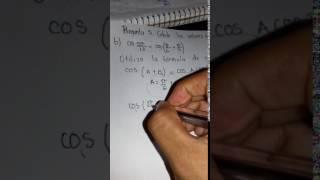 Pregunta 5. Calcula el valor exacto