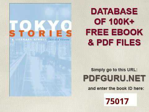 Tokyo Stories A Literary Stroll Voices from Asia