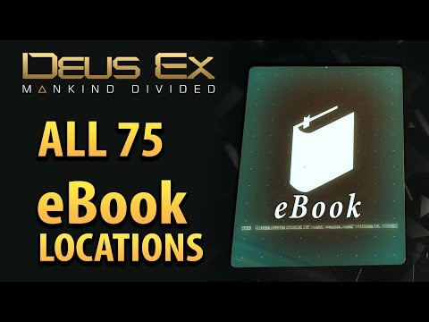 """DEUS EX: Mankind Divided - COMPLETE eBook Guide for """"Tablet Collector"""" Achievement / Trophy"""