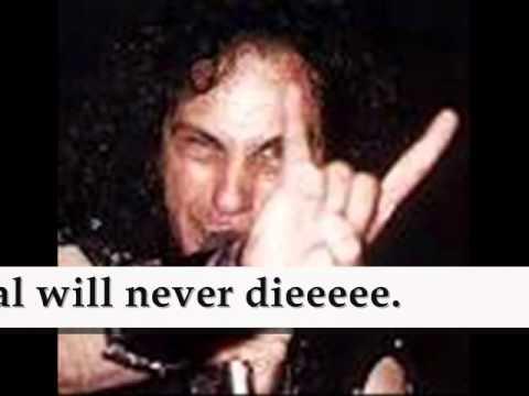 DIO - METAL WILL NEVER DIE. (Lyrics on Screen)