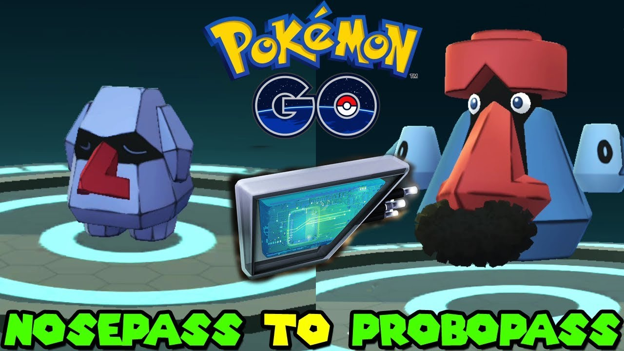 Evolving NOSEPASS TO PROBOBASS IN POKEMON GO – MAGNETIC LURE EVOLUTION