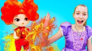 Видео с куклами - Огненные элементали— Принцесса София и Сказочный Патруль— Аленка выросла