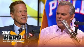 Ric Bucher would move Simmons over Embiid, talks Kyrie leaving Boston & free agency   NBA   THE HERD