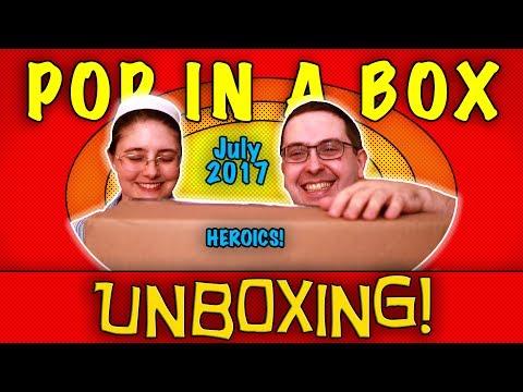 UNBOXING! Pop in a Box July 2017 (10 Pops) - HEROICS! #Funko #Marvel #DC
