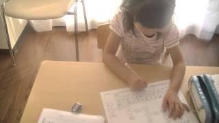 鶴田式算数教育 先週に続き、年長さんの割り算8の段です。 ものすごい...