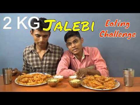 2 KG Jalebi Eating Challenge | Crispy Crunchy Juicy Jalebi Eating Competition