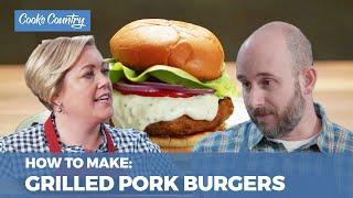 How to Make Juicy Grilled Pork Burgers