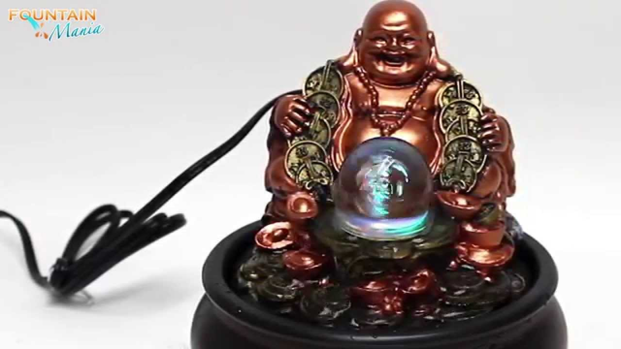 Lucky Buddha With Glass Ball Tabletop Water Fountain   @FountainMania.com    YouTube