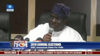 2019 General Elections: INEC Announces Dates For Polls