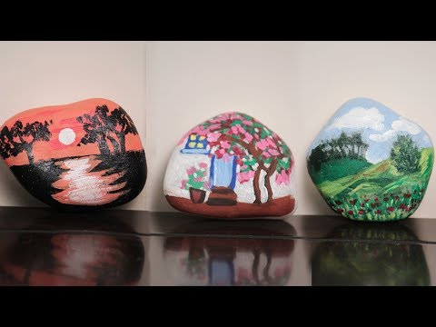 Diy Paper Weights - Stone Arts - How To Make a Beautiful Paper Weights - #diycrafts