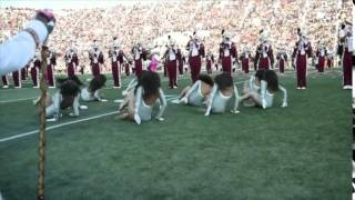 Alabama A&M Marching Maroon and White Band performs at the 2014 Magic City Classic