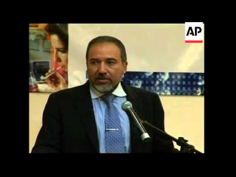 Israeli FM Lieberman on 3-day visit, reax, anti-Lieberman protests