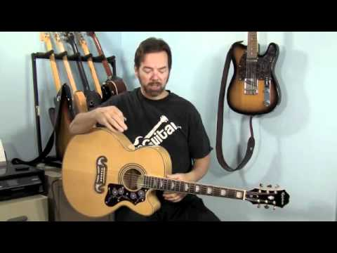 Review Epiphone EJ200 Acoustic Guitar