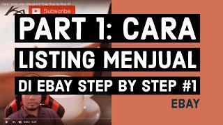 Cara Listing atau Menjual di Ebay Step by Step #1