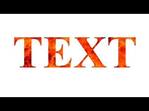 Как наложить текстуру на текст в Фотошопе