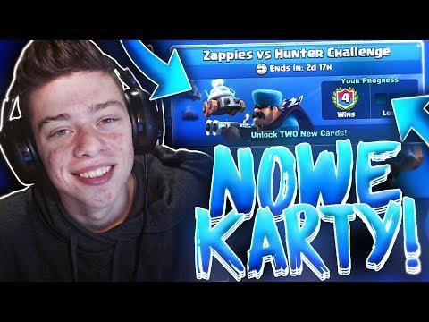 NOWE KARTY W AKCJI! GRAM NOWYMI KARTAMI!! Zappies vs Hunter Challenge! Clash Royale Polska