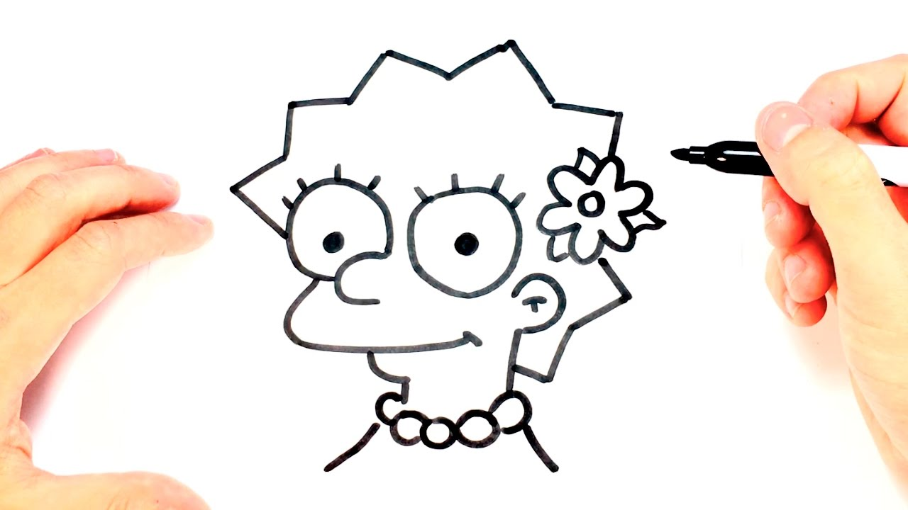 Como Dibujar A Lisa Simpson Paso A Paso Dibujo Facil De Lisa