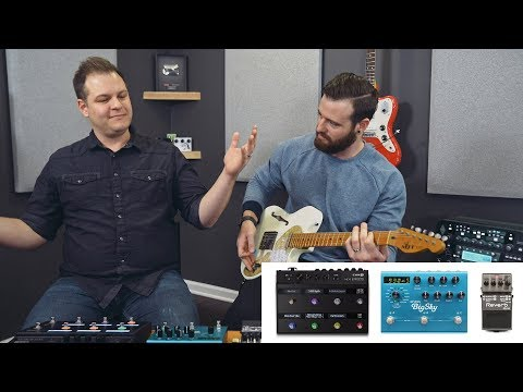Line 6 HX Effects / Helix Reverbs vs our favorite reverb pedals (Strymon BigSky & Boss RV-6)