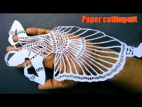Paper cutting tutorial |Bharat natyam  | indian dance | beautiful paper cutting art