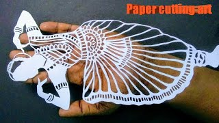 Paper cutting tutorial |varat natyam | #papercuttingart | indian dance | beautiful paper cutting art