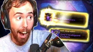 Asmongold GAMBLES In WoW Opening ALL Benthic Gear  Can He Get BEST In Slot