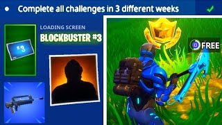 BLOCKBUSTER CHALLENGE WEEK 3 COMPLETED! + NEW UPDATE (Fortnite: Battle Royale) [Burst Assault Rifle]