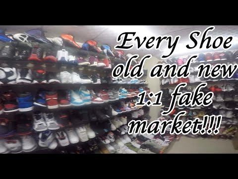 Unauthorized Wholesale Fake Shoe Market. Jordans, Foamposites, Yeezys, Nike, Adidas Guangzhou China