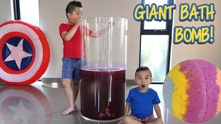Giant Bath Bomb Kids Experiment Fun