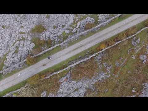 Flying over an alien landscape, The Burren, County Clare, Ireland Part 2