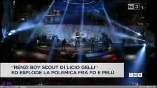 1 Maggio 2014 - Bufera Piero Pelù! Duro attacco a Renzi, alla politica e le mafie (Servizi TG)