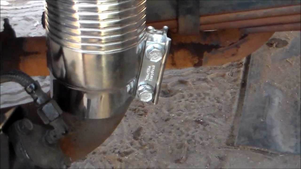 how to fix truck exhaust with exhaust flex simple and cheap