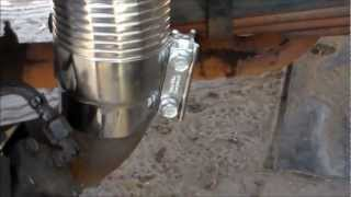 How to fix Truck exhaust with exhaust flex simple and cheap!!