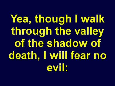 Psalm 23  The Lord Is My Shepherd  Holy Bible  Christian Scripture   KJV