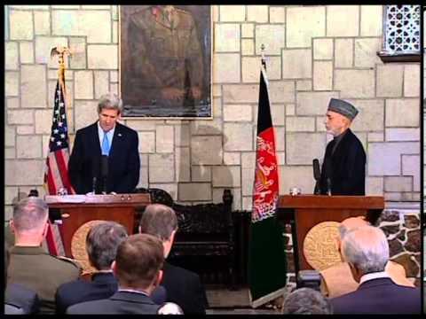 President Karzai & U.S. Secretary of State Kerry joint press conference (Dari Translation)