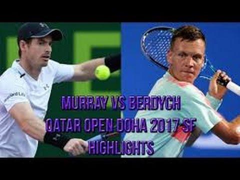 Murray vs Berdych live streaming (ATP DOHA) 2017 , highlights 2017