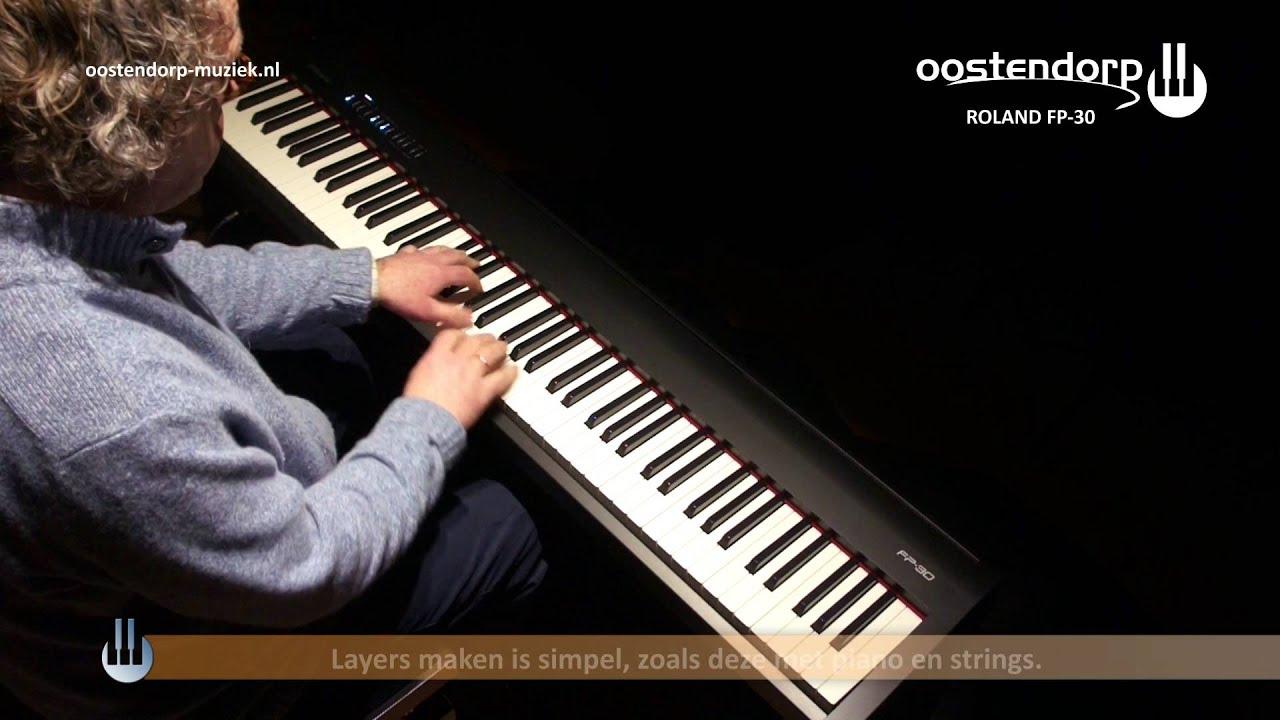 Roland Fp 30 Digitale Piano Sounddemo Youtube