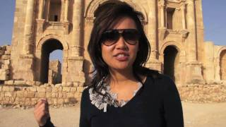 Natalie Tran in Jordan with Lonely Planet