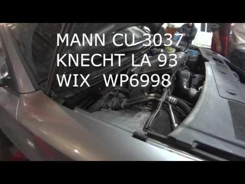 AUDI A4 B6 замена фильтра салона