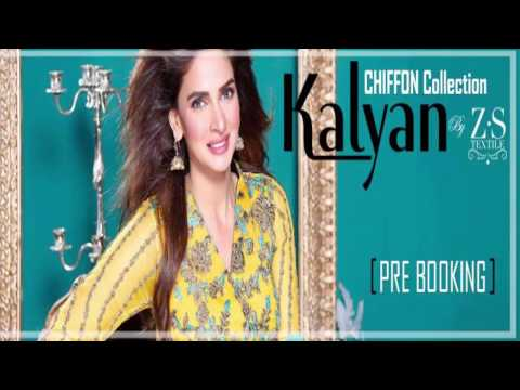 Latest Kalyan Pure Chiffon Winter Collection 2017 by ZS Textiles