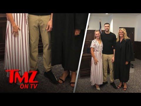 NBA Player's Super Lowkey Marraige | TMZ TV